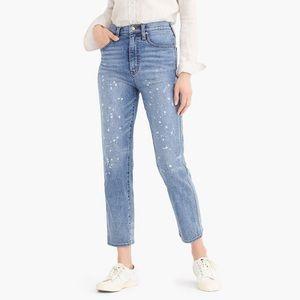 J. Crew Point Sur Rigid Straight Leg Paint Splatter Jeans